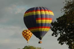 Getaways for couples are a great time to enjoy a hot air balloon ride.