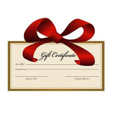 A romantic Christmas Gift Certificate!